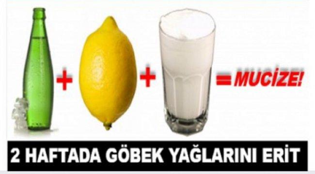 Limon – Ayran – Soda Kürünü Kullanarak 2 Haftada Göbek Yağlarını Eritebilirsiniz